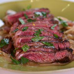 Pan Seared Strip Steak Michael Symon - thechew.com