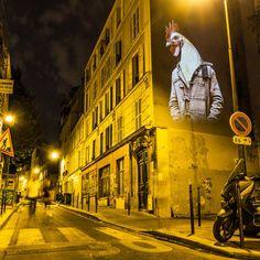 Street art by Julien Nonnon in Paris.