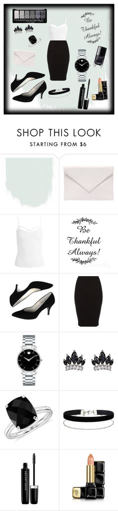 """""""Untitled #65"""" by eldinarizvic ❤ liked on Polyvore featuring Verali, Sans Souci, Movado, Fallon, Blue Nile, Miss Selfridge, Marc Jacobs and Guerlain"""