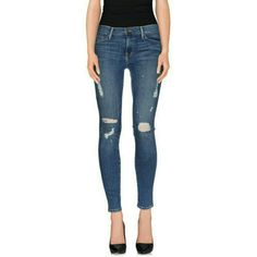 Frame Denim Destroyed Skinny Jeans Brand new with tags. Frame Denim Destroyed Skinny Linden Jeans Waist: 12.5 in, inseam: 28 in, width: 9 in, rise: 7.5 in  Size 24  No trades. Negotiate through offer button only. Frame Denim  Jeans Skinny