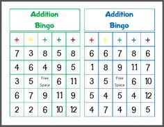 Printable Addition Bingo