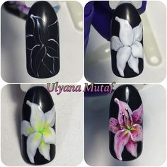 Simple Nail Art Designs That You Can Do Yourself – Your Beautiful Nails Simple Nail Art Designs, Nail Polish Designs, Nail Designs, Gel Nail Art, Easy Nail Art, Nail Art Fleur, Kawaii Nails, Floral Nail Art, Nails Only