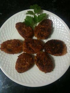 Nuggets vegetales con avena, soja, semillas de lino y cebolla.