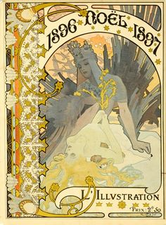 Vintage French Art Nouveau poster