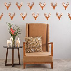 Deer & Antler Wall Decals! Special mention to @Etsy, @ModCloth and @Urban Outfitters!