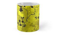 'Spring Blossom' Mug by jollybirddesign Spring Blossom, Cherry Blossom, Framed Prints, Canvas Prints, Art Prints, Floor Pillows, Coasters, Clock, Mugs