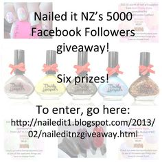 Nailed It NZ: Nail Polish Giveaway for 5000 Facebook Followers!