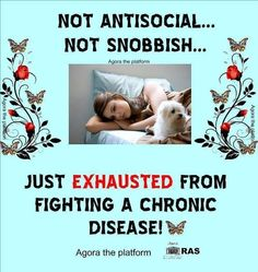 Not antisocial, just exhausted...