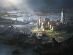 """""""Academy at Tolaria West - magic card illustration. """"The mist-shrouded isle of Tolaria was home to the mages' school, the renowned Tolarian Academy—but it…"""""""