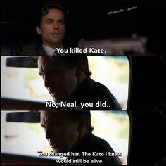 Neal and Adler. White collar quotes