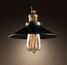 Restoration Hardware Metal Filament Pendant. Love this look. Great for kitchen, bar, dining, etc.