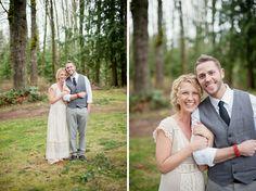 Rainy Day Wedding // Wedding Photographer // Tanis Katie Photography // www.taniskatie.com // grey wedding suit // vintage lace wedding dress // wedding portraits