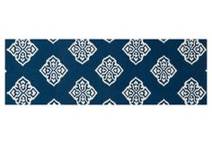 "One Kings Lane - Get It Together - 2'6""x8' Atlas Flat-Weave Runner, Blue"