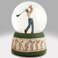 Bunker Shot Golfer Snow Globe