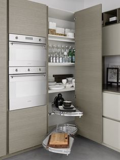 Great storage idea for the scullery corner