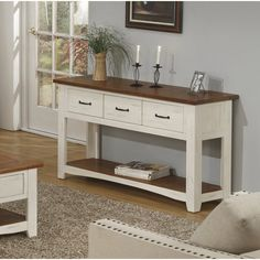 Three Posts Soham Console Table Colour: Antique White and Honey Tobacco Skinny Console Table, Marble Console Table, Narrow Console Table, Entryway Tables, Hall Tables, Entryway Decor, Low Shelves, Sofa Tables, Traditional House