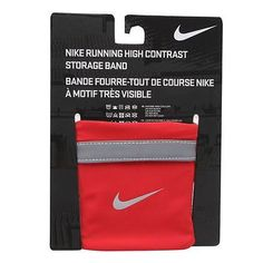 Nike running wrist storage band #wallet for keys or #money #reflective & red new ,  View more on the LINK: http://www.zeppy.io/product/gb/2/281624365453/
