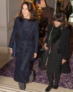 On February 3, 2016, Crown Princess Mary of Denmark visited the opening of Copenhagen Fashion Week