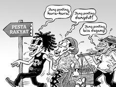 Kartun Benny, Kontan Oktober 2014: Benny Rachmadi - Pesta Rakyat Menyambut Jokowi