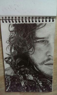#art #drawing #Jon #Snow (#GameOfThrones)