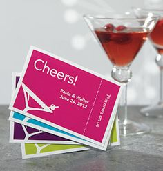 Personalized Large Martini Themed Drink Tickets from Wedding Favors Unlimited Party Drinks Alcohol, Alcoholic Drinks, Martini Party, Drink Ticket, Wedding Favors Unlimited, Ticket Design, Tool Design, Design Ideas, Summer Picnic