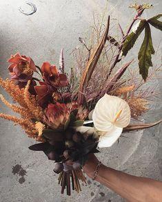 Ri_chan...☆さんはInstagramを利用しています:「. bouquet & boutonniere ① 花材がとても好き💐 オレンジ色🍊がメイン ロケーションにぴったり..🐴🍊🍊 好きすぎて写真沢山撮っちゃいました🤳💕 . flowers : @chiemiwakai_duft produced :…」 Different Flowers, Colorful Flowers, Beautiful Flowers, Exotic Wedding, Fall Wedding, Flower Bouquet Wedding, Dried Flowers, Flower Designs, Floral Arrangements