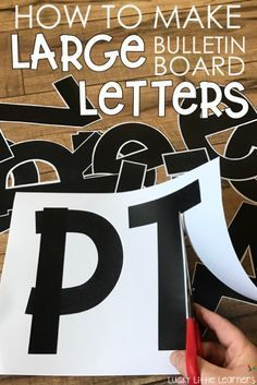How to Make Large Bulletin Board Letters Have you ever wondered how teachers are making these beautiful bulletin board letters? This post outlines a step by step set of directions to create large bulletin board letters that stand out and look amazing! Bulletin Board Letters, Classroom Bulletin Boards, School Classroom, Classroom Themes, Classroom Organization, Kindergarten Bulletin Boards, Elementary Bulletin Boards, Bulletin Board Borders, Elementary Library