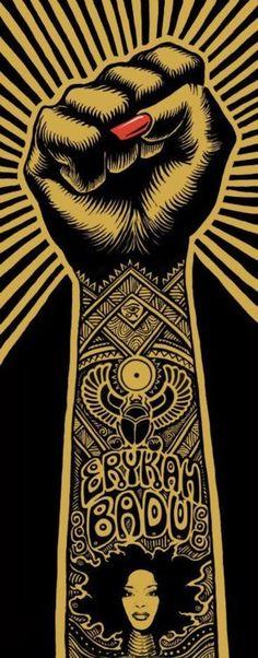Erykah Badu - Image detail for the First Lady of Neo Soul or the Queen of Neo Soul… ya heard! African American Art, African Art, Illustrations, Illustration Art, Concert Rock, Silkscreen, Kunst Poster, Neo Soul, Black Artwork