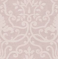 Kashmir Heather (1934/153) - Prestigious Wallpapers - A raw silk fabric effect wallcovering, with a delicate sheen, overlaid with a subtle leaf damask design. Shown in heather pink. Other colours and silk background available. Please ask for sample for true colour match.