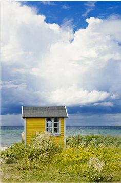 Denmark ~ I love this yellow house! It's just like sunshine that brings happiness :)
