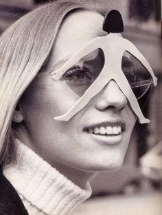 Eyewear by Pierre Marley Circa 1960s Fashion, Vintage Fashion, Vintage Beauty, British Fashion, Estilo Kitsch, Vogue, Lauren Hutton, Turbans, Womens Glasses