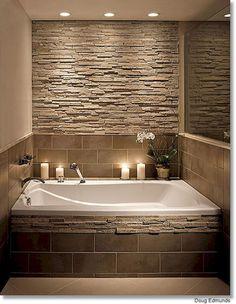 Small master bathroom tile makeover design ideas (44)