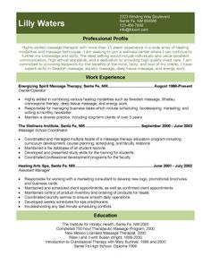 licensed massage therapist resume template | resume templates and ... - Resume Examples For Massage Therapist