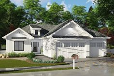 Modern Farmhouse Plan: 1,733 Square Feet, 3 Bedrooms, 2 Bathrooms - 963-00160