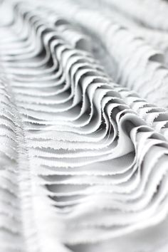 close up of Gareth Pugh dress - delicate layered textures #textiles fabric manipulation inspiration for fashion design