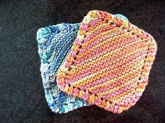 Knit washcloth pattern - a great use for my random remains of cotton yarn?