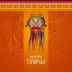 Vector illustration of Decorated Kandil for Happy Diwali background. Easy to edi ,