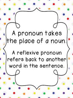 FREE pronoun printables