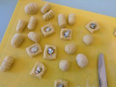 Making gnocchi stuffed with Gorgonzola