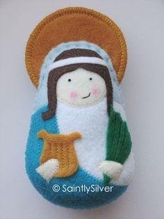 Saint Cecilia Felt Saint Softie