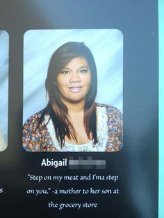 Beautiful inspiration really is everywhere: 23 Amazing And Inspiring High School Yearbook Quotes High School Quotes, High School Yearbook, School Memes, Funny Yearbook Quotes, Graduation Quotes Funny, Funny Senior Quotes, Senior Year Quotes, Gumball, Funny Jokes