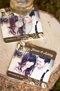 Cute Coasters! #wedding