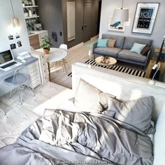 Apartment Bedroom Decor For Couples Small Spaces Amazing Tiny Apartment Furniture Decorating Ideas Decorating Ideas. Apartment Bedroom Decor For Coupl. Small Apartment Bedrooms, One Room Apartment, Small Apartment Design, Small Space Design, Apartment Bedroom Decor, Studio Apartment Decorating, Apartment Layout, Apartment Interior Design, Apartment Ideas
