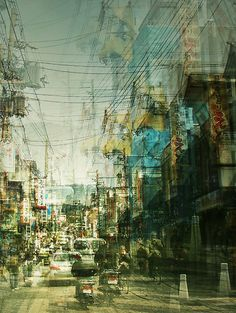 Experimental cityscape photography by Stephanie Jung. Cityscape Photography, Urban Photography, Creative Photography, Street Photography, Landscape Photography, Photography Ideas, Exposition Multiple, Double Exposition, Photomontage
