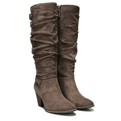 615dd765e81 Taupe Suede Boots from Famous Footwear. Ship worldwide with Borderlinx.com  Knee High Wedge