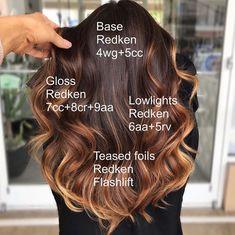 Love Hair, Great Hair, Redken Hair Color, Hair Jazz, Redken Hair Products, Hair Doo, Hair Color Formulas, Hair Color Techniques, Cool Hair Color