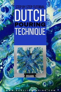 A Dutch Pour or Blow Pour is created by pouring paint (usually using the dirty cup technique) onto a canvas and using a blow dryer [. Acrylic Pouring Techniques, Acrylic Pouring Art, Acrylic Art, Dutch Bros Drinks, Painting Recipe, Dutch Shepherd Dog, Dutch Baby Recipe, Pour Painting, Abstract Flowers