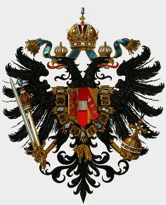 Small Austrian national coat of arms, Meyers Großes Konversations-Lexikon, 1905–1909.