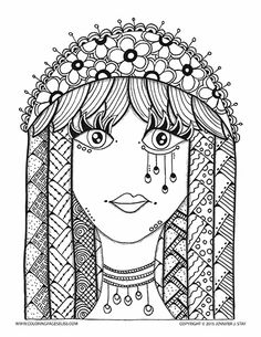 Folk Art Birds Coloring Pages Coloring books Folk art and Teen