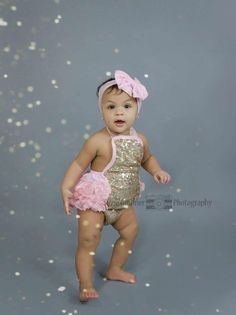 8218c21ce8c4 Pink and Gold Romper - Baby Romper - Birthday Outfit - Flower Girl - Pink  Romper - Lace Romper - Bubble Romper - Cake Smash - Months